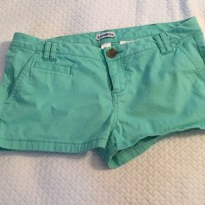 Express shorts mint green size 2
